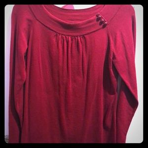 Red Lightweight pullover sweater